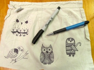 Draw on fabric with your Sharpie