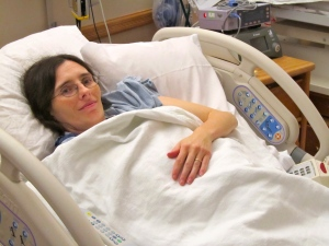 Being monitored for contractions.