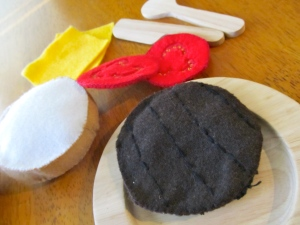 felt hamburger patty