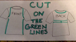 T-shirt apron cutting diagram