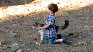 Eli and the cat