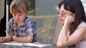 Eli and Mama reading